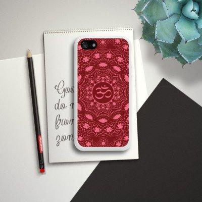 Apple iPhone SE Housse Outdoor Étui militaire Coque Mandala Été Rouge Housse en silicone blanc