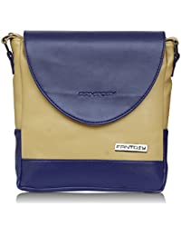 Fantosy Women Beige And Blue Souqina Sling Bag (beige And Blue) (FNSB-213)
