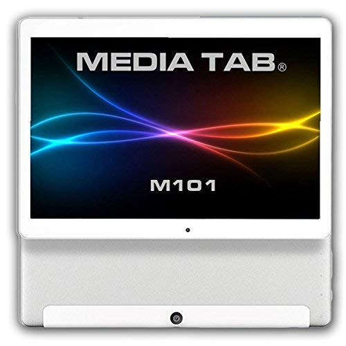 MediaTab M101S1 10 Zoll Tablet PC 3G Dual SIM GPS Android 7.0 64GB Quad-Core 2GB RAM HD IPS Display 1280 x 800 Kamera (inkl. Tastatur / Tasche, Silber) (Android Netbook)