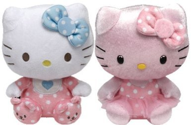 Ty Beanie Babies Hello Kitty Rosa Baby mit -