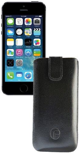 Apple iPhone 5S favory étui en cuir avec languette d'extraction *couleur :  noir