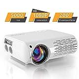 Beamer,5000 Lux Video Projektor (550 ANSI) Crenova XPE660 unterstützt Full HD 1080P Heimkino Beamer , Verbindung mit TV-Sticks, PS4 Xbox, HDMI, VGA, SD-Karten, AV- und USB-Geräten, (Aktualisierung)