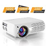 Beamer,5000 Lux Video Projektor (550 ANSI) XPE660 unterstützt 1080P Full HD, Verbindung mit...