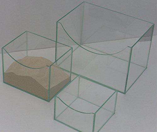 Sandbad Badehaus Jacuzzi für Nager aus Glas 20x15x15cm -