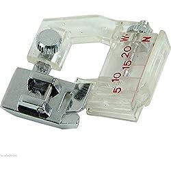 Clarashop Sewing Supplies Direct Pied de biche Pose Biais Compatible Machine à Coudre Brother, Janome, Toyota et Singer Accessoires