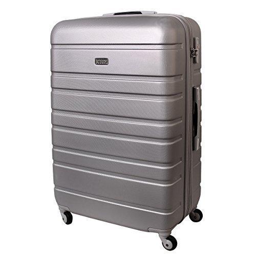 XXL Hartschalen Koffer TSA Zahlenschloss Trolley 120 Liter Silber 815 B