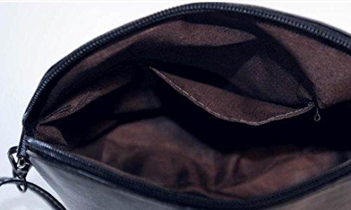 Ularma Umhängetasche Damen PU Leder Reißverschluss Blumen Schmetterling Praktische Handtasche Ledertasche Schultertasche Libelle