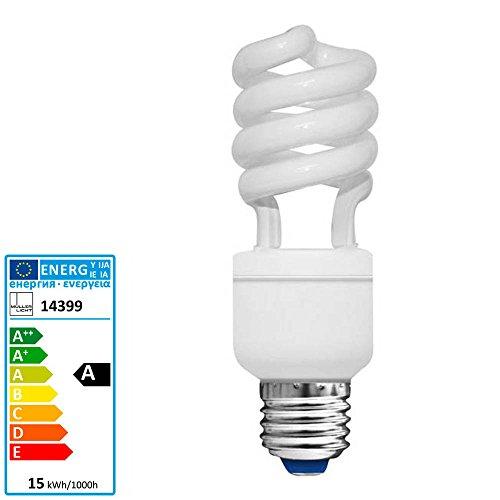 Müller Licht Energiesparlampe Spirale Longlife E27 15 Watt 2700 Kelvin 850 Lumen 15.000 Std -