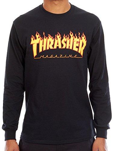Thrasher Flame Logo Longsleeve Tee Black