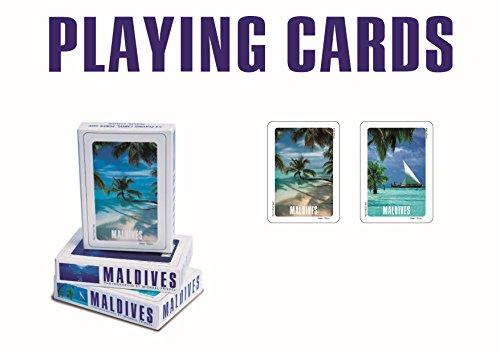 Preisvergleich Produktbild Spielkarten, Poker Size, 54 Blatt mit Malediven Motiv 2, Palme