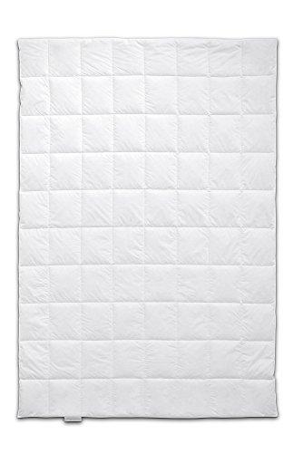 Böhmerwald ® Schlafgenuss Dauneneinziehdecke, allergikergeeignet, 135x200 cm, Weiß