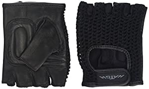 Patterson Medical All-Purpose One Pair Padded Mesh Wheelchair Gloves - Large, Black