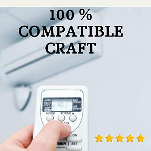 Mando Compatible CRAFFT - Mando Aire Acondicionado CRAFFT - Mando a Distancia Compatible 100% con Aire Acondicionado CRAFFT. Entrega en 24-48 Horas. CRAFFT