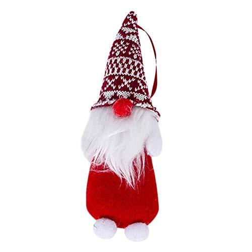 (Qiusa Weihnachten HolidayHand Dekoration, gemacht Santa Cloth Puppe Geburtstagsgeschenk Home Weihnachtsbaum Puppe Anhänger Weihnachtsverzierung)