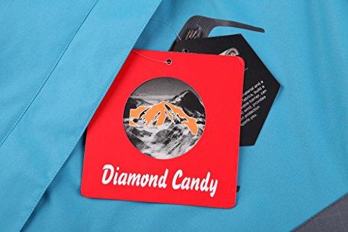 Diamond Candy femmes v¨ºtement de sport encapuchonn¨¦ coupe-vent de plein air ¨¦tanche respirant veste Bleu
