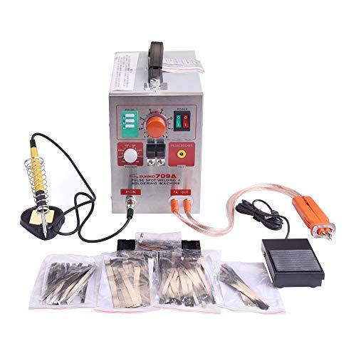 Punktschweißgerät 709A, KNOKOO 2 in 1 220V 1.9kw Sunkko LED Puls Batterie Spot Schweißer 709A für 18650 16430 14500 Batterie Pack