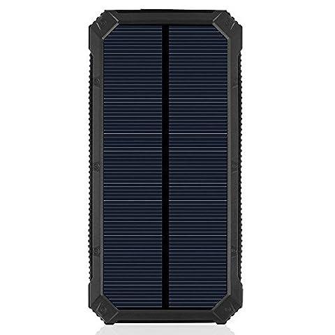 Chargeur solaire, batterie externe Power Bank 20000mAh Panneau Solaire Solaire