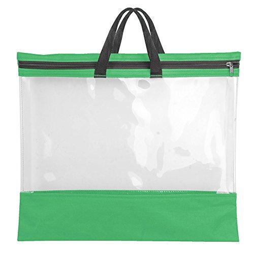 Veloflex 2703341 VELOBAG To Go, Reißverschlusstasche, Mal-, Zeichentasche, für A3, Textil und PVC-Folie, grün - Tasche Zeichenblock