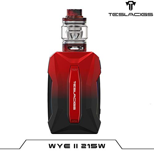 Authentic Tesla Teslacigs WYE II 215W 4.0ML TC VW Box Mod/Resin Tank Kit - Red To Black