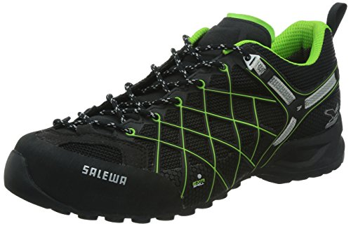 SALEWA MS WILDFIRE GTX, Herren Outdoor Fitnessschuhe, Schwarz (0906 Black/Emerald), 39 EU (6 Herren UK)