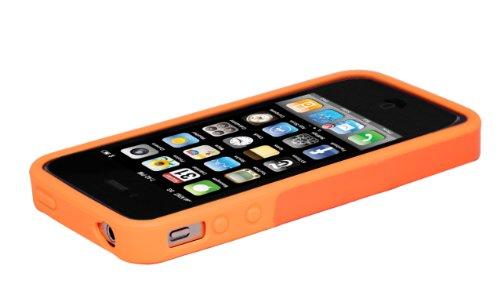 Hard Candy Cases BC4S-BLU Etui pour iPhone 4S Bleu Orange