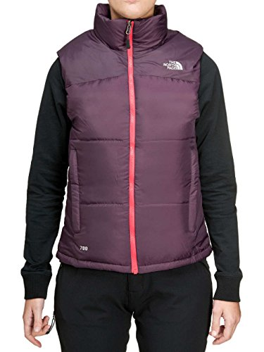 North Face W Nuptse Vest Bar Purple Purple
