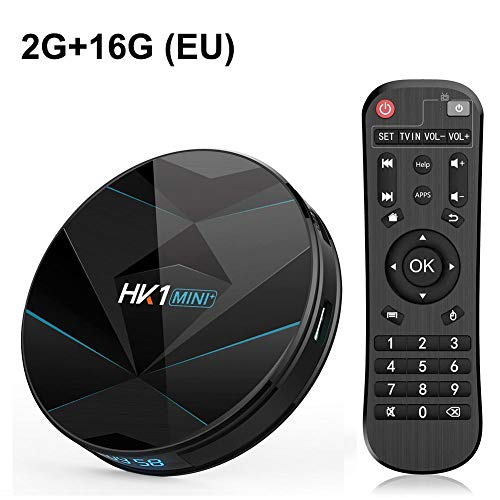 True-Ying Android 9.0 Smart TV Box, HK1 Mini RK3318 Quad Core 64 Bits Cortex A53 4 Go De RAM 64 Go ROM Bluetooth 4.0 Fonctions À Double Bande WiFi 4K WiFi 4K Ultra 4K HD TV