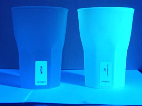 'Lumacup Lot de 50verres à cocktail en plastique réutilisables et résistants UV 100% fabriqué en Allemagne, Couleur Naturelle