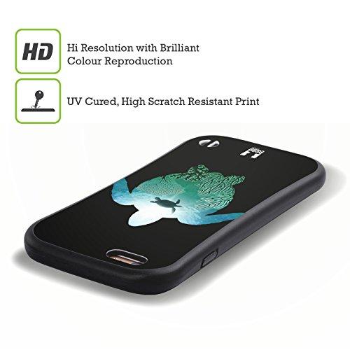 Head Case Designs Tortue Animal Double Exposition Étui Coque Hybride pour Apple iPhone 5 / 5s / SE Tortue