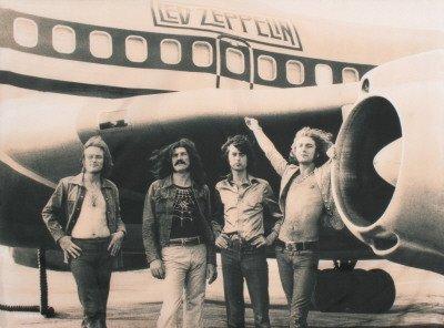 Poster di stoffa 'Led Zeppelin', Dimensione: 102 x 76 cm