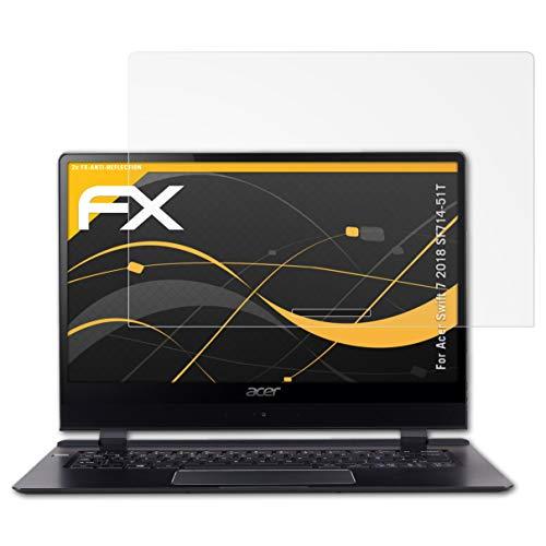 atFolix Panzerfolie kompatibel mit Acer Swift 7 2018 SF714-51T Schutzfolie, entspiegelnde und stoßdämpfende FX Folie (2X)