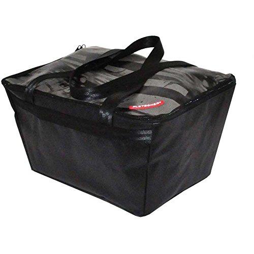 Pletscher Unisex- Erwachsene Deluxe Fahrradkorb, schwarz, 1size