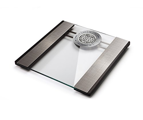 Radioshack 6100804 - Báscula de cristal para grasa corporal