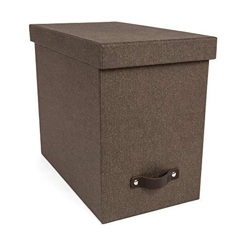 Bigso John Canvas Papier Laminat Desktop-Datei Box Dunkelbraun