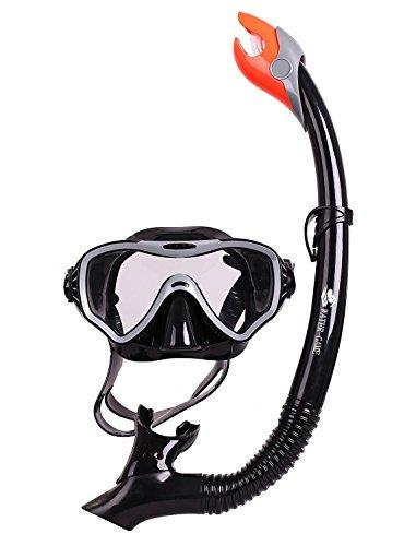 l Paket, Anti-Fog Gehärtetes Glas + Silikon Anti-Auslauf Maske + Ungiftiges Mundstück + Verstellbare Kantenschließe / Ideales Geschenk zum Schnorcheln und Schwimmen (Maske Zu Verkaufen)