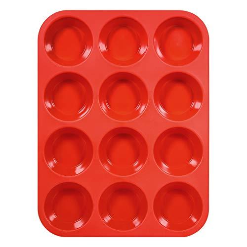 Ecoki Muffinform aus Silikon, Backform für 12 Muffins - LFGB Zertifiziert BPA-frei Muffinblech für Cupcakes, Pudding, Kuchen, Brownies - Antihaft & Leicht zu Reinigen 丨2 Jahren GARANTIE