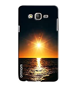 Omnam Pure Sunset In Sea Printed Designer Back Cover Case For Samsung Galaxy On 5