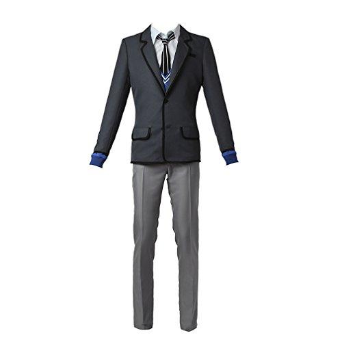 Cosplayitem Schule Uniform Japanische Anime Kleidung Kostüm Anzug Jacke Weste Fancy Dress Grau