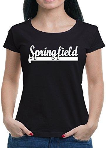 TLM Springfield T-Shirt Damen XL Schwarz