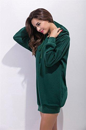 YouPue Femme Manteau De Hoodies SweatShirt Blouse à Manches Longues Overs Sweatshirt Vert