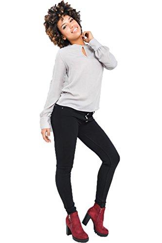Fashion - Chemisier - Tunique - Uni - Manches Longues - Femme Gris