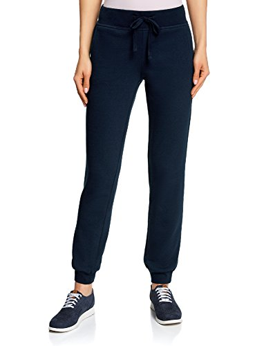 oodji Ultra Femme Pantalon de Sport en Maille Bleu (7900N)