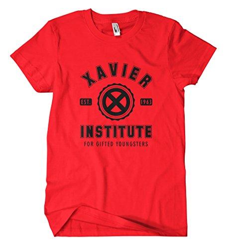 Xavier Institute T-Shirt (L, Rot)