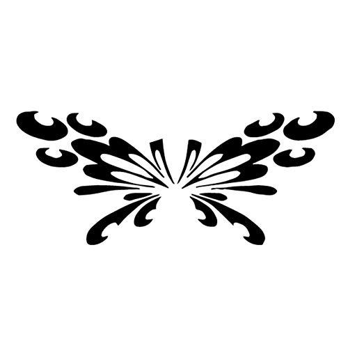 Dyte adesivo creativo 18,2 cm * 7,6 cm adesivi per auto decalcomanie design tribale farfalla volante arte nero/argento