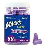 Macks Slim Fit Ohrstöpsel Violett violett 50 Pairs