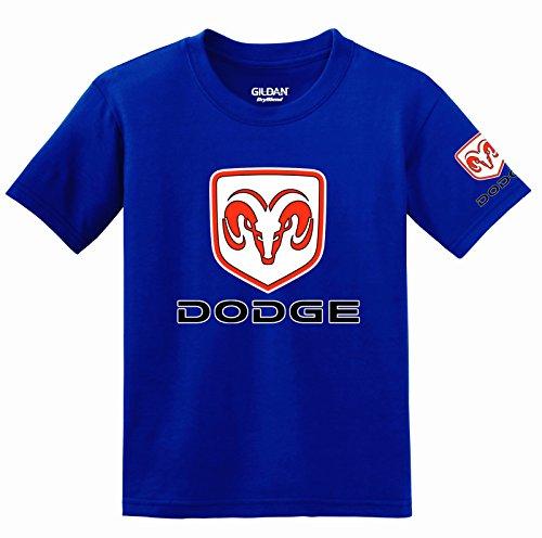 Dodge Logo with Sleeve T-shirt, X-Large Blue (Dodge Camo Hoodie)