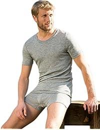 Engel Natur, Herren T-Shirt, Wolle und Seide
