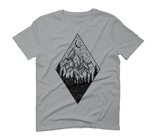 Mountains Men's Graphic T-Shirt - Design By Humans Opal