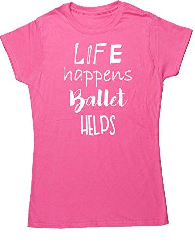 HippoWarehouse Damen T-Shirt X-Large Rose