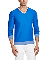 GAS Mens Cotton Sweater (8056775037071_85712562_Small_Blue Wed)